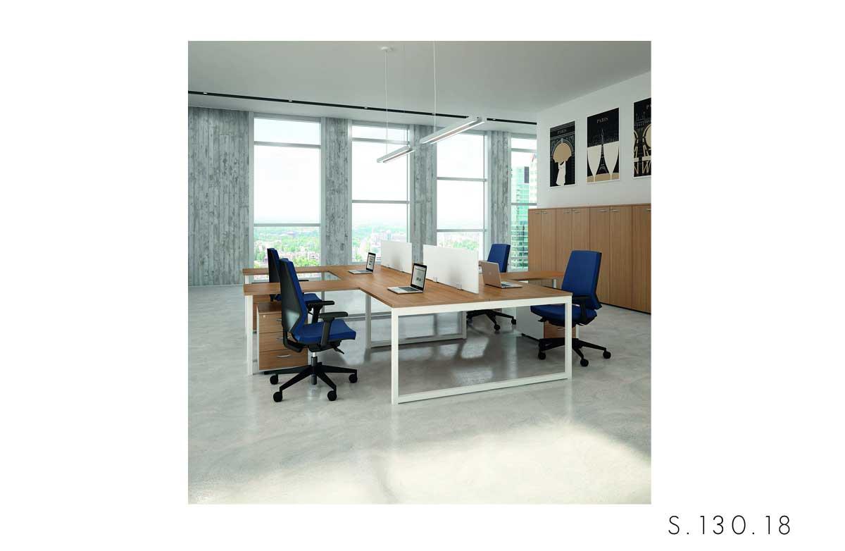 scrivania gamba_ad_anello Quadrifoglio