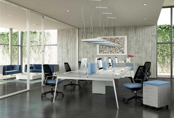 Scrivania operativa Quadrifoglio X3 Adv arredamentI ufficio Torino