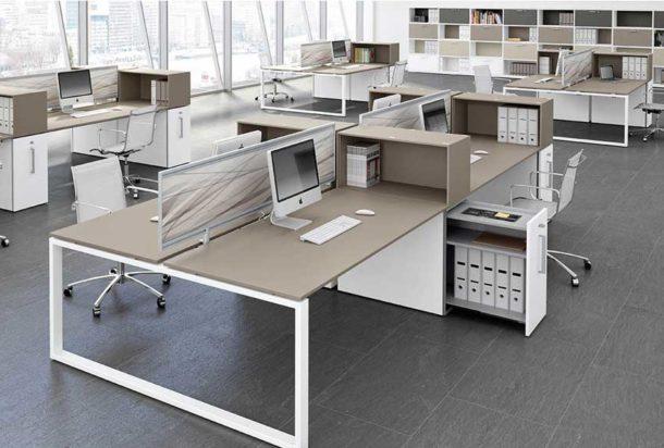 Scrivania operativa Bralco Loopy Adv arredamentI ufficio Torino