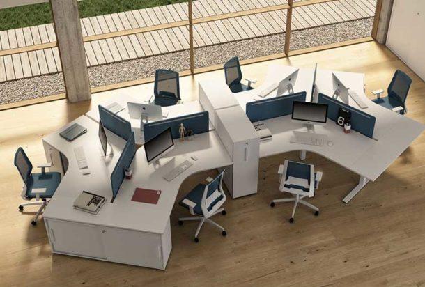 Scrivania operativa Bralco Winglet Farm Adv arredamentI ufficio Torino
