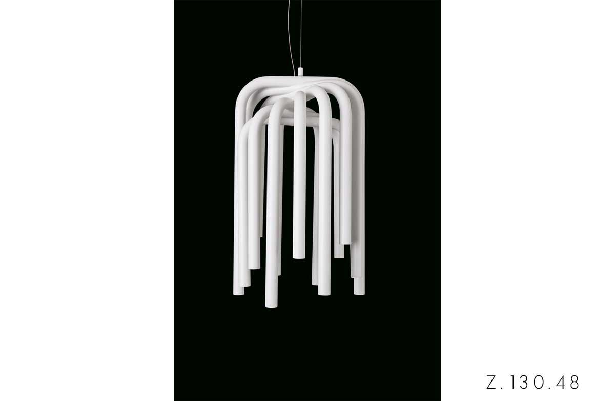 Illuminazione Quadrifoglio Pipes lampada a sospensione